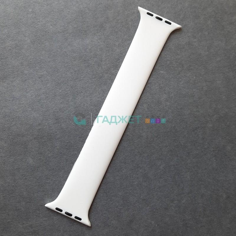 Силиконовый ремешок для Apple Watch 42-44, Solo Loop, размер S, белый