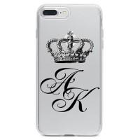 Чехол для телефона с фамилией именем № 1085 Королевская корона, Инициалы