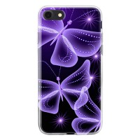 Чехол для телефона с картинкой №2048 Неоновые бабочки