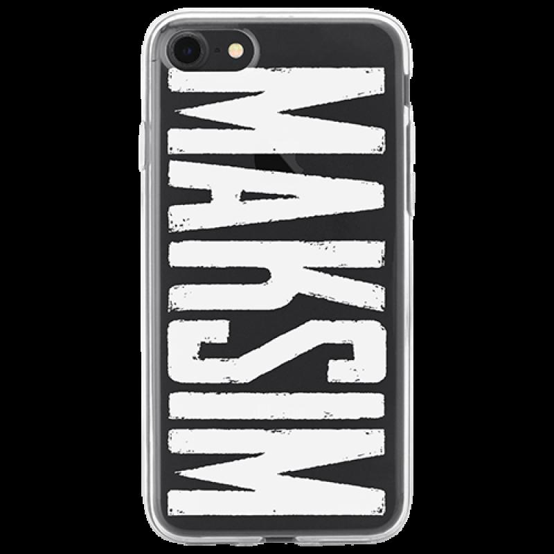 Чехол для телефона с фамилией именем № 1010 MAKSIM (шрифт Headliner No. 45)