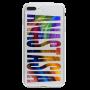 Чехол для телефона с фамилией именем № 1011 Шрифт - Fusion Стиль - Поток красок