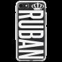 Чехол для телефона с фамилией именем № 1034 RUBAN Шрифт SteelFish c короной