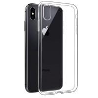 Силиконовый чехол для Apple iPhone XS Max, Shemax Clear TPU, прозрачный