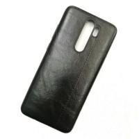 Чехол-накладка Shemax Leather TPU с имитацией кожи для Xiaomi Redmi Note 8 Pro, цвет черный