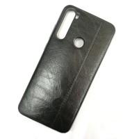 Чехол-накладка Shemax Leather TPU с имитацией кожи для Xiaomi Redmi Note 8, цвет черный