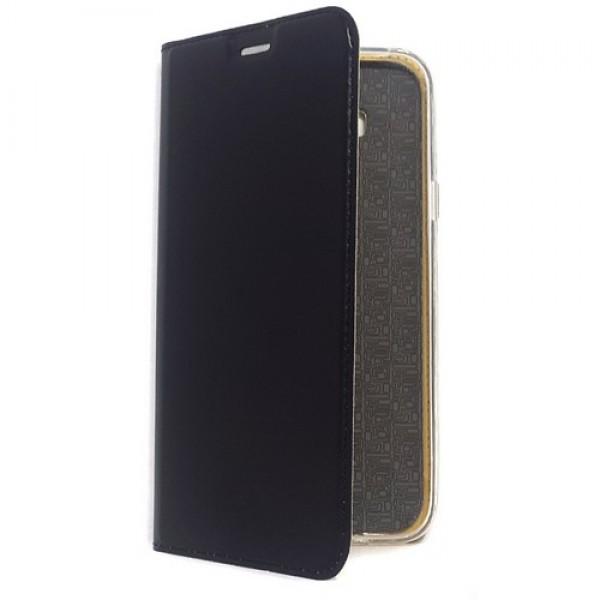 Чехол-книга для Samsung Galaxy J7 2015 / J7 Neo, Luxury Flip Case, цвет чёрный