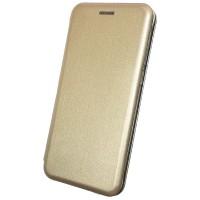 Чехол-книга для Xiaomi Redmi 7, Magnetic Flip Wallet, цвет золотой