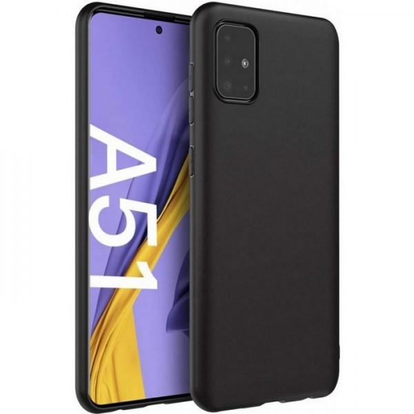 Чехол для Samsung Galaxy A51, силиконовый матовый (бампер), Matte TPU Cover, цвет чёрный