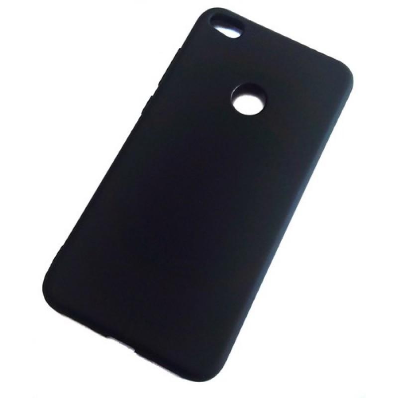 Чехол для Huawei P8 Lite 2017, силиконовый матовый, Matte TPU Cover, цвет чёрный
