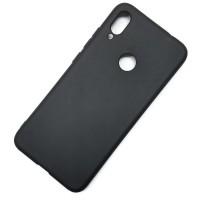 Чехол для Xiaomi Redmi Note 7, силиконовый матовый (бампер), Matte TPU Cover, цвет чёрный