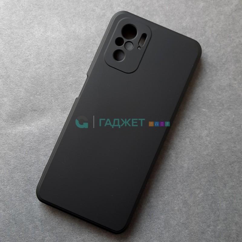 Силиконовый чехол для Xiaomi RedMi Note 10, черный