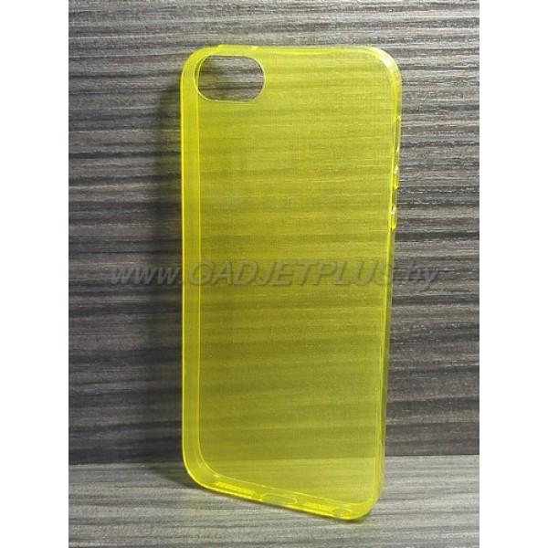 для Apple iPhone 5 / 5S Ультратонкий силиконовый чехол-накладкаTPU Case желтый