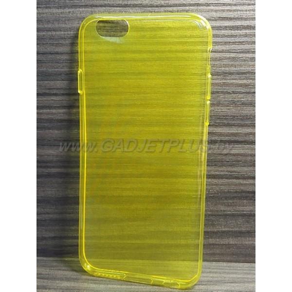 для Apple iPhone 6 Ультратонкий силиконовый чехол-накладкаTPU Case желтый