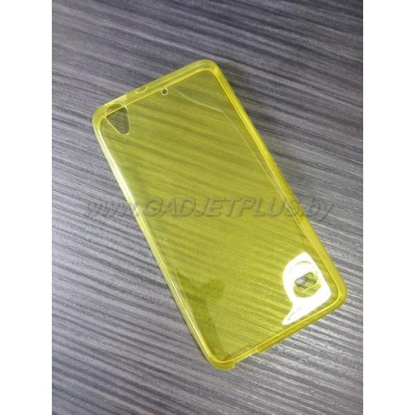 для Huawei Ascend G620 Ультратонкий силиконовый чехол-накладкаTPU Case желтый