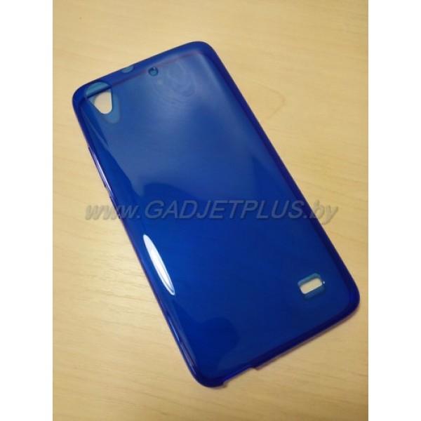 для Huawei Ascend G620 Ультратонкий силиконовый чехол-накладкаTPU Case синий