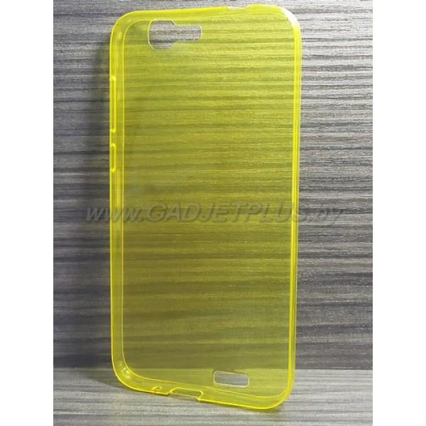 для Huawei Ascend G7 Ультратонкий силиконовый чехол-накладкаTPU Case желтый