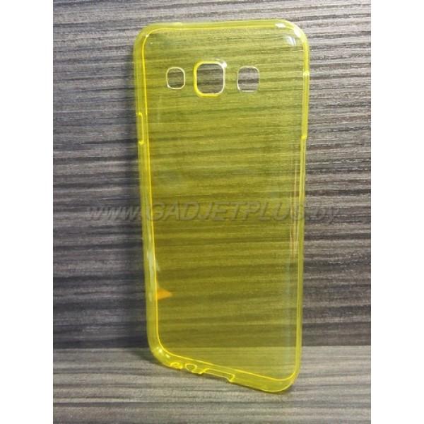 для Samsung Galaxy E5 SM-E500H/DS Ультратонкий силиконовый чехол-накладкаTPU Case желтый