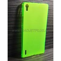 для Huawei Ascend P7 чехол-накладка силиконовый TPU Case матовый зеленый