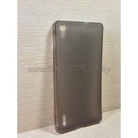 для Huawei Ascend P7 чехол-накладка силиконовый TPU Case матовый черный