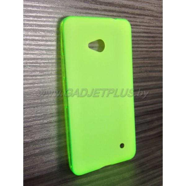 для Nokia Lumia 640 чехол-накладка силиконовый TPU Case матовый зеленый