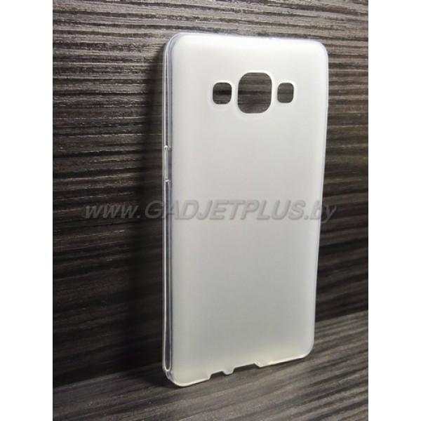 для Samsung Galaxy A5 SM-A500F чехол-накладка силиконовый TPU Case матовый белый