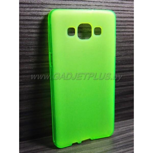 для Samsung Galaxy A5 SM-A500F чехол-накладка силиконовый TPU Case матовый зеленый