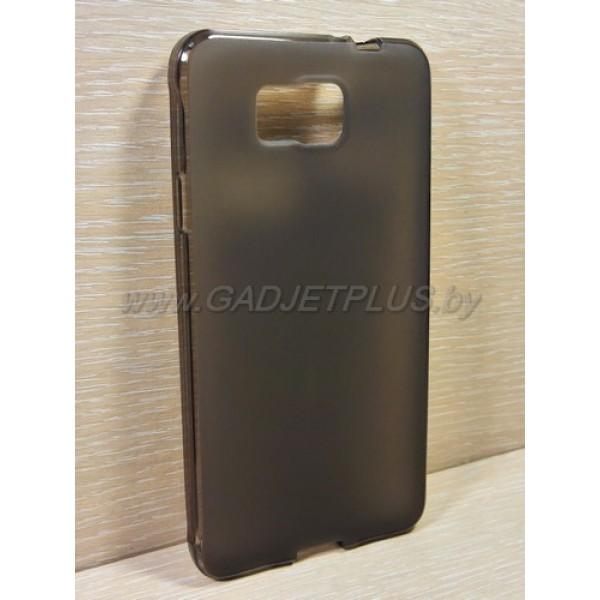 для Samsung Galaxy Alpha (SM-G850) чехол-накладка силиконовый TPU Case матовый черный