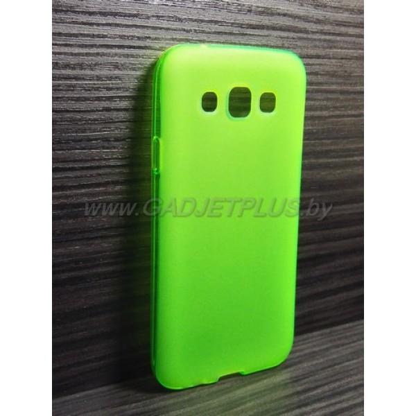 для Samsung Galaxy E5 SM-E500H/DS чехол-накладка силиконовый TPU Case матовый зеленый