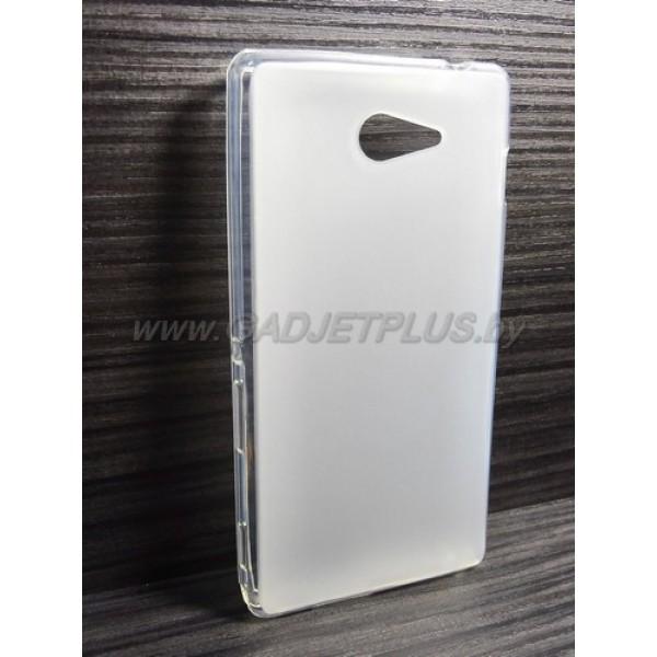 для Sony Xperia M2 (S50H) чехол-накладка силиконовый TPU Case матовый белый