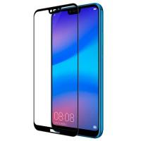 5D защитное стекло для Huawei P20 Lite с полной проклейкой, цвет чёрный