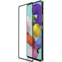 Защитное стекло для Samsung Galaxy A51 с полной проклейкой, цвет чёрный