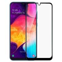 5D защитное стекло для Samsung Galaxy A50 с полной проклейкой, цвет чёрный
