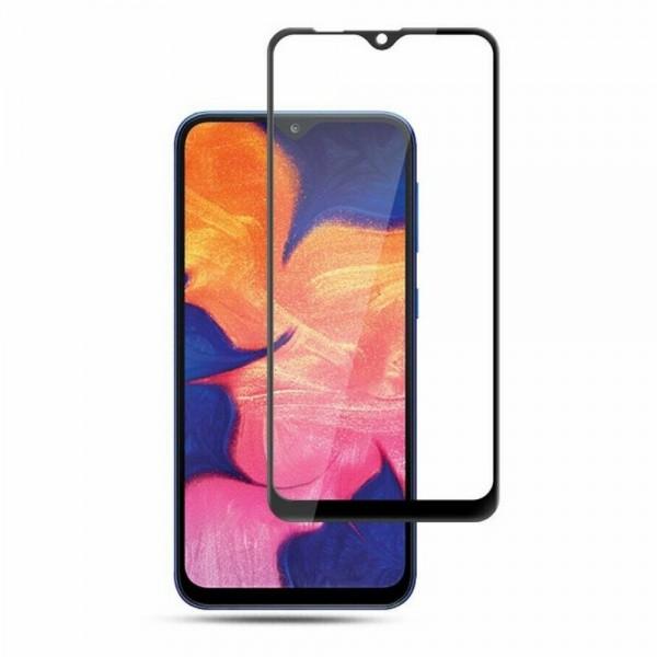 5D защитное стекло для Samsung A10/M10 с полной проклейкой, цвет чёрный