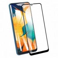 5D защитное стекло для Samsung A40 с полной проклейкой, цвет чёрный