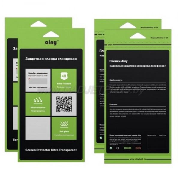 для Apple iPhone 6 (4.7) двухстороняя глянцевая (прозрачная) защитная пленка Ainy Ultra Transparent