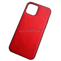 Чехол для iPhone 12 / 12 Pro (6.1), X-Level Earl III, красный
