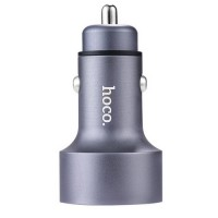 Hoco Z9 Kingkong Digital Display 12-24V автомобильное зарядное устройство для телефонов и планшетов 2.1A, серый