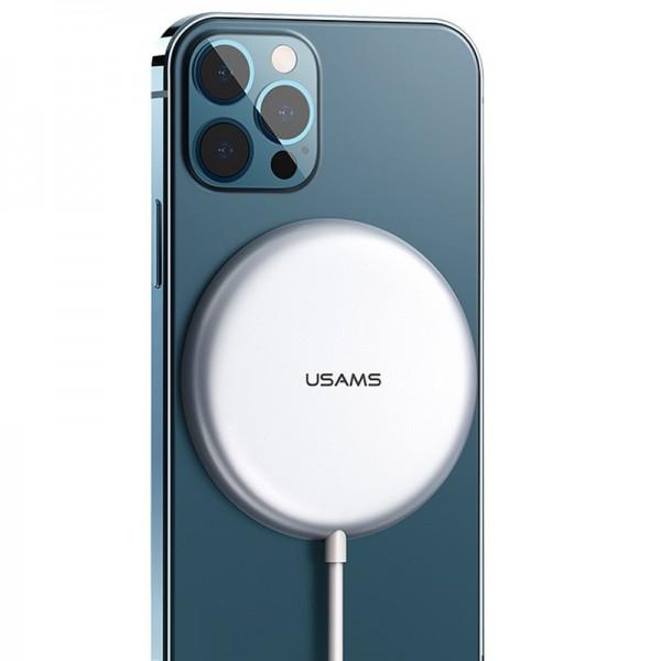 Беспроводная магнитная зарядка  Usams US-CD160 W2, серебро